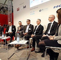 ZVEI - Hannover Messe 2018, Forum Industrie 4.0: 5G-ACIA panel discussion.