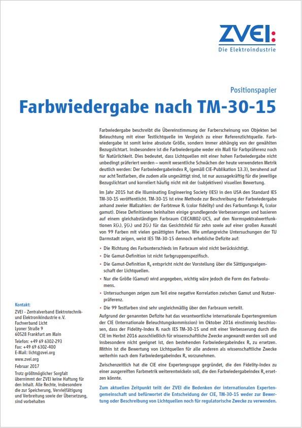 Positionspapier Farbwiedergabe Nach Tm 30 15 Zveiorg