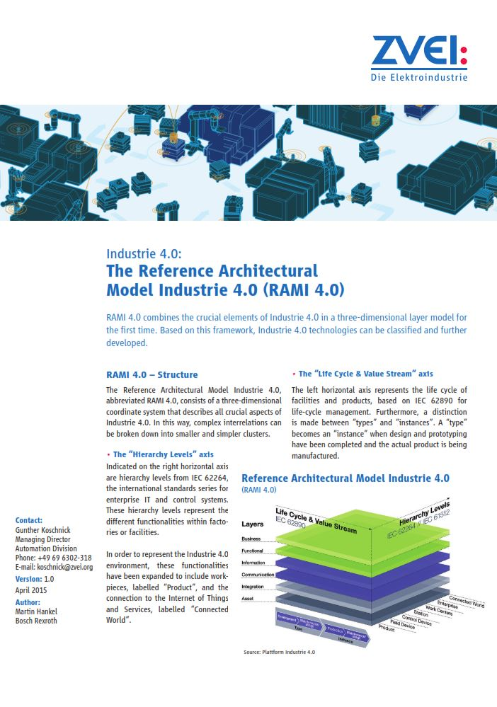 The Reference Architectural Model Industrie 4.0 (RAMI 4.0) - zvei.org