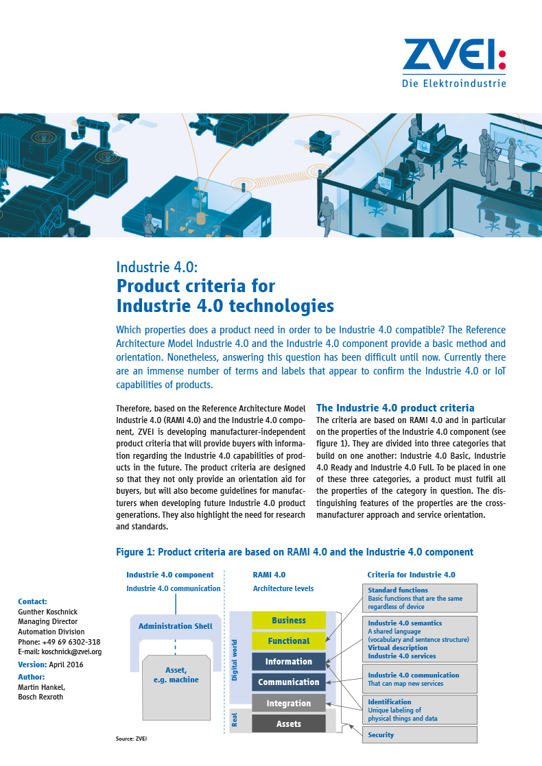 Industrie 4.0: Product criteria for Industrie 4.0 technologies ...
