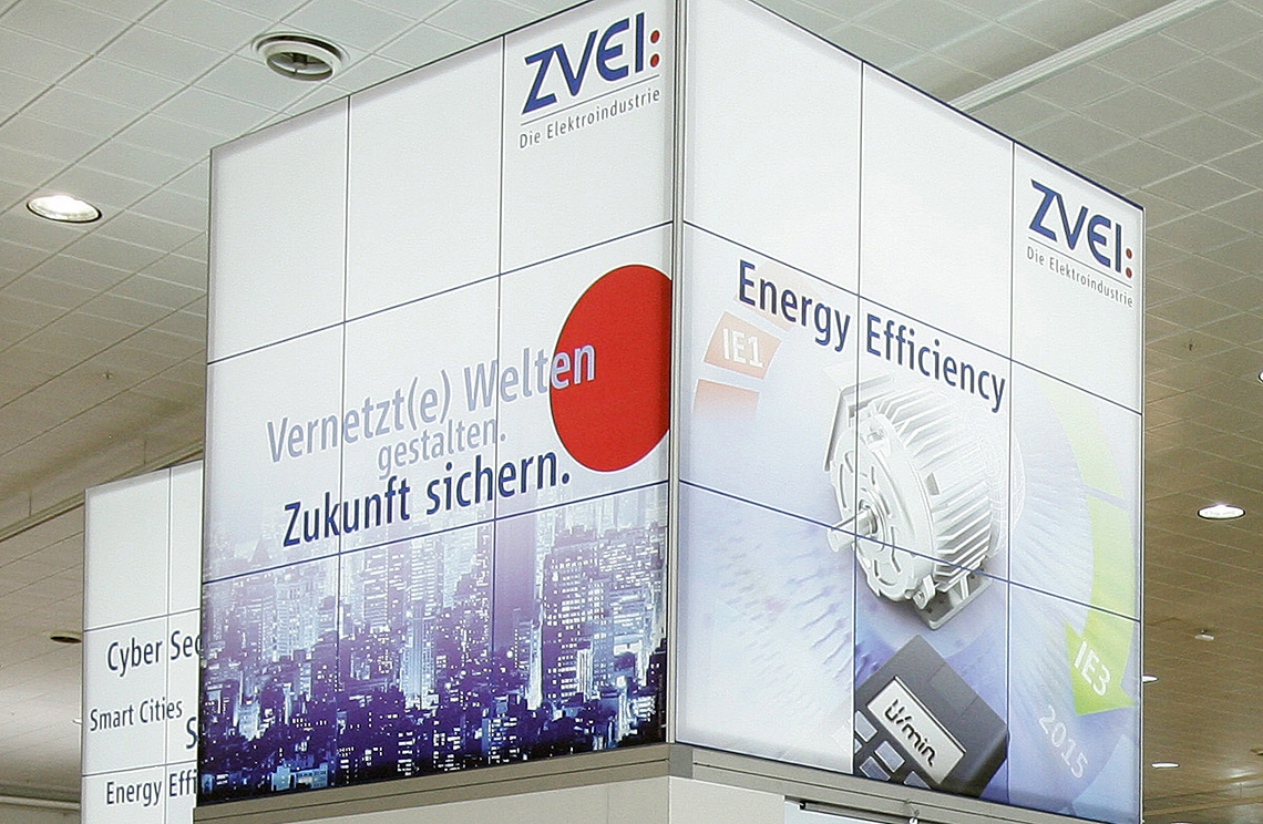 The ZVEI-booth at an exhibition.